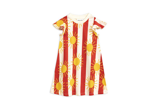 Mini Rodini Sun stripe aop wing dress Red