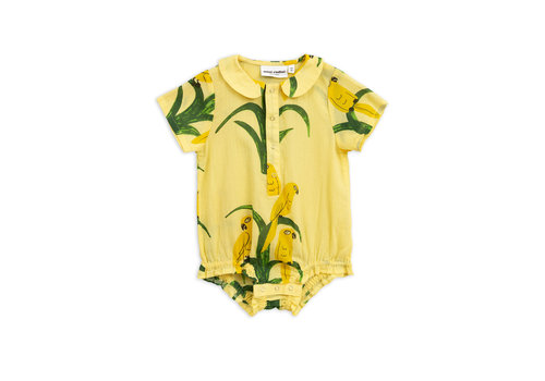 Mini Rodini Parrot woven body Yellow