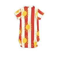 Sun stripe aop ss body Red