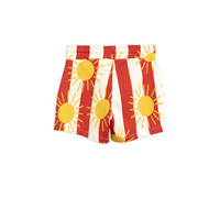Sun stripe aop shorts Red