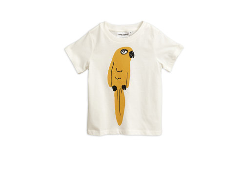 Mini Rodini Parrot sp ss tee White
