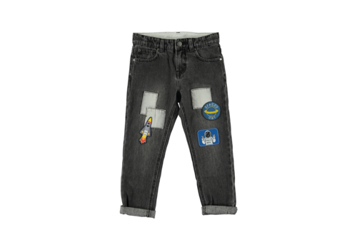 Stella McCartney Kids Denim Trousers Washed Grey Denim
