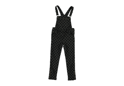 Stella McCartney Kids All In One Dungarees Flock Dots On Denim