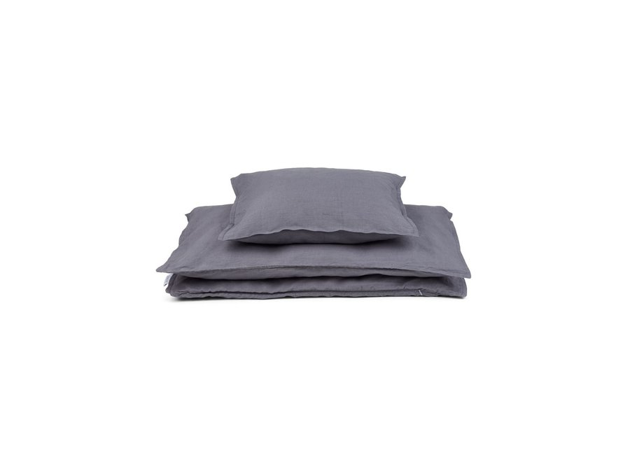 Finn Junior Bedding Stone Grey
