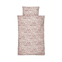 Bed Linen Junior Cream, AOP Owl Mahogany