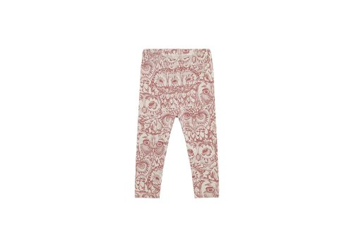 Soft Gallery Baby Paula Leggings Cream, AOP Owl Mahogany
