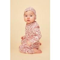 Baby Paula Leggings Cream, AOP Owl Mahogany