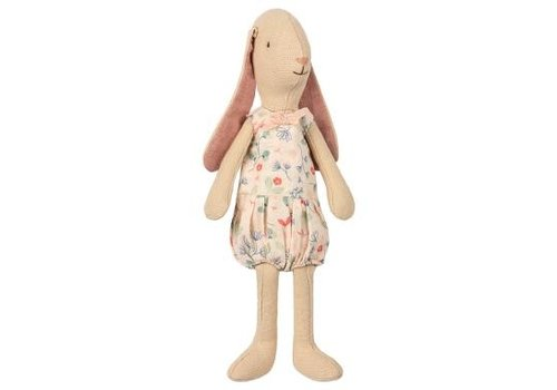 Maileg Mini light bunny, Flower suit - Rose