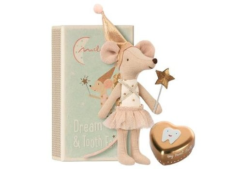Maileg Tooth fairy, Big sister mouse w . metal box
