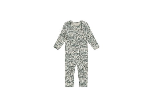 Soft Gallery Ben Bodysuit Cream, AOP Owl Green