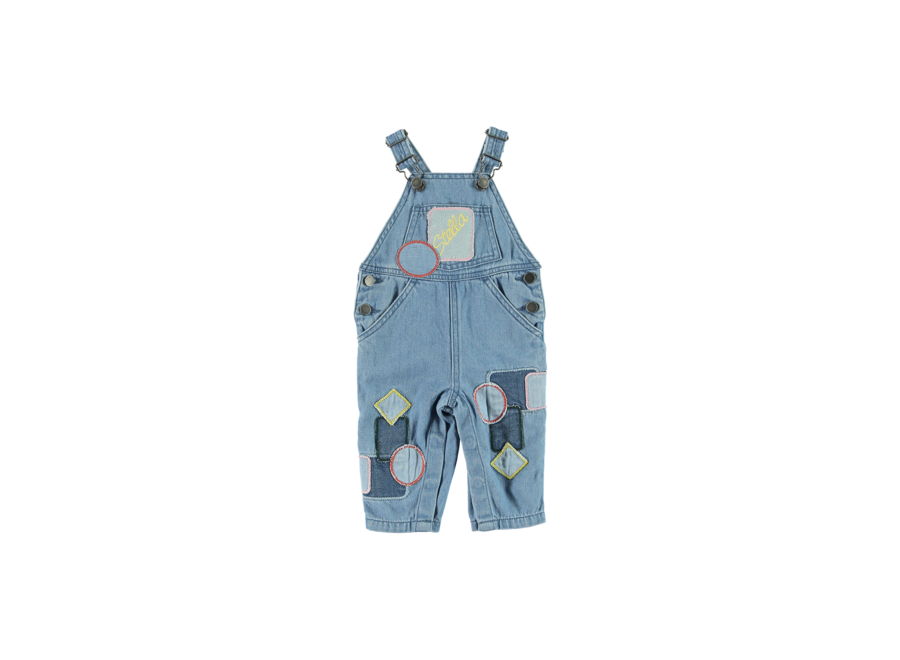 All In One Dungarees  Light Denim