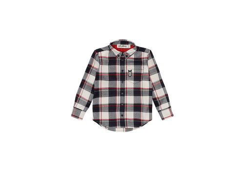Soft Gallery Bentley Shirt  RBW Check, Owl Patch Grey