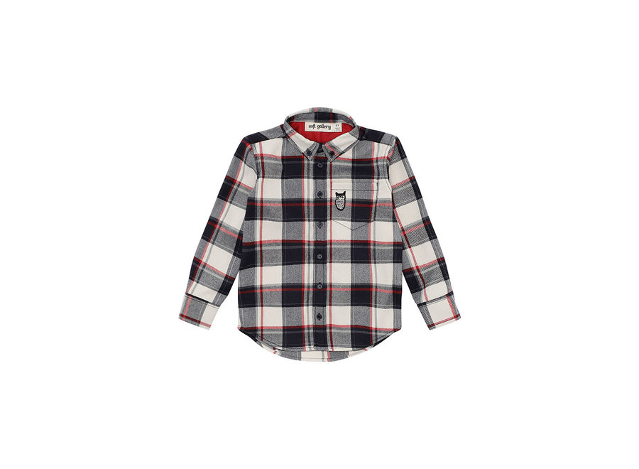 Bentley Shirt  RBW Check, Owl Patch Grey