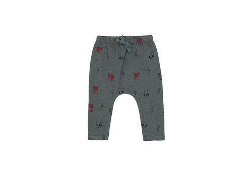 Soft Gallery Hailey Pants  Dark Forest, AOP Foxforest