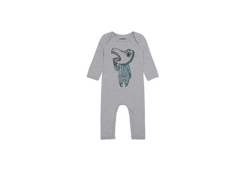 Soft Gallery Ben Bodysuit  Grey Melange, Dino