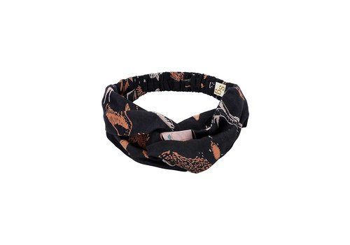 Soft Gallery Wrap Hairband  Peat, AOP Enchanted forest