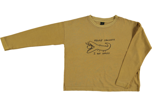 Bonmot organic relax long sleeved t-shirt Croco, Mustard