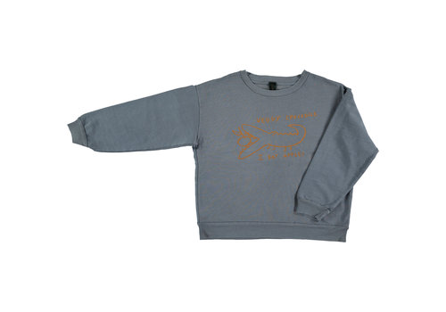 Bonmot organic sweatshirt Croco,  Deep_blue