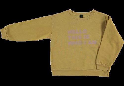 Bonmot organic sweatshirt Hello,  Mustard