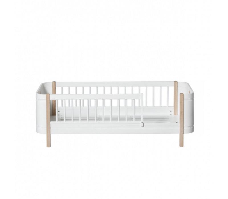 WOOD MINI+ JUNIOR BED, WHITE/OAK
