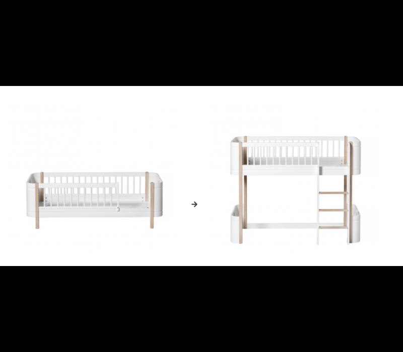 Conversion kit // Mini+ junior bed to low loft bed, white/oak