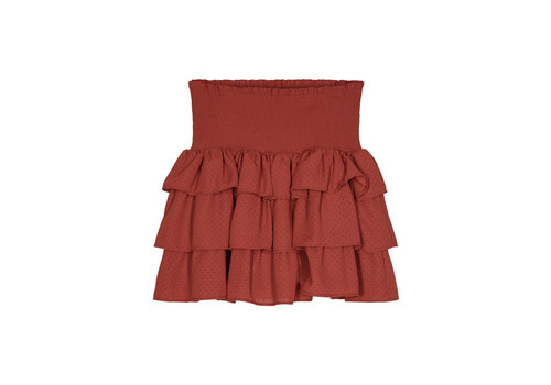 Designers Remix Girls LR Byron Ruffle Skirt, Ox Blood