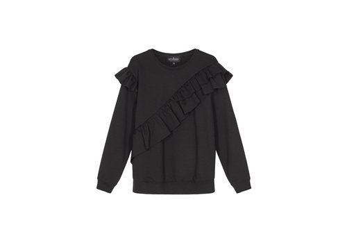 Designers Remix Girls LR Sandy Ruffle Sweat, Black