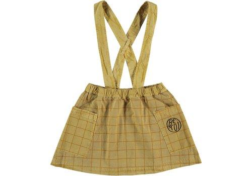 Bonmot organic short Skirt braced squared, Mustard