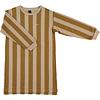 Bonmot organic fleece dress wide stripe,  Maple_sugar