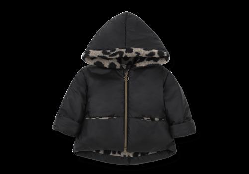 1 + More in the Family Hood Jacket Regina Black/Beige