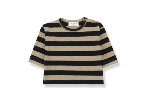 1 + More in the Family Long Sleeve T-Shirt Vienna Black/Beige