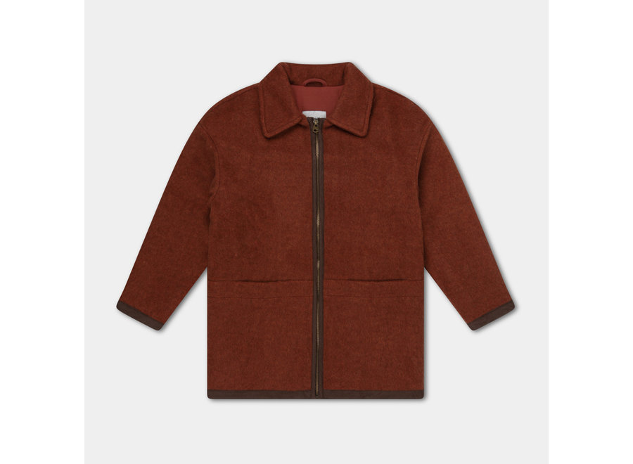 Bomber With Collar Warm Stone