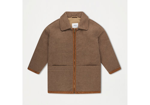 Repose AMS Bomber With Collar Sand Brown