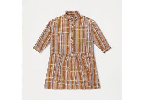Repose AMS Boxy Shirt Dress Golden Check