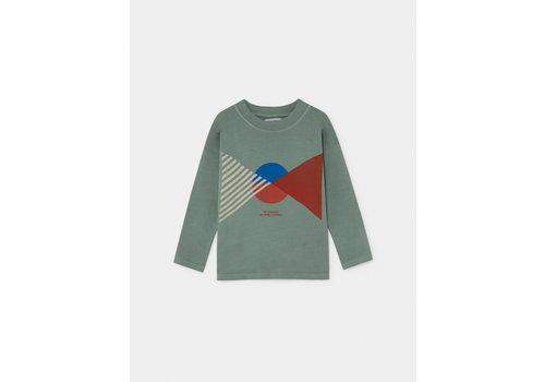 BOBO CHOSES Flag Long Sleeve T-Shirt Iceberg Green