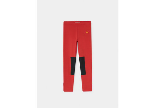 BOBO CHOSES Green Patch Leggings Flamé Scarlet