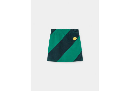 BOBO CHOSES Striped Night and Day Mini Skirt Peppergreen