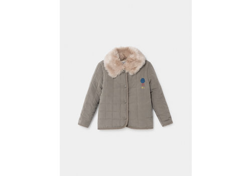 BOBO CHOSES Volcano Quilted Jacket Sea Moss
