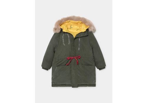 BOBO CHOSES Reversible All Over Stars Hooded Anorak Sea Moss