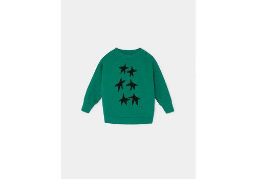 BOBO CHOSES Stars Sweatshirt Peppergreen