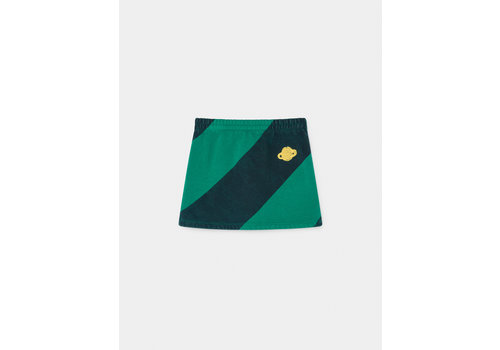BOBO CHOSES Big Stripes Mini Skirt Peppergreen