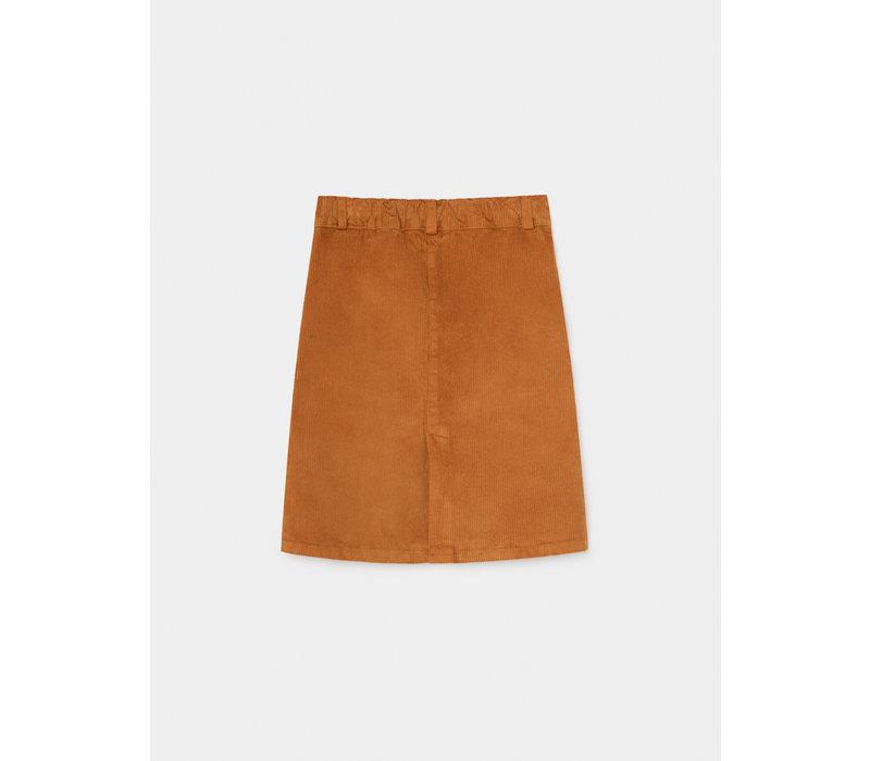 Dark Saturn Corduroy Skirt Sudan Brown