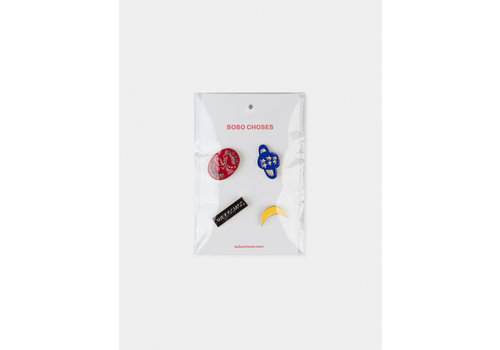 BOBO CHOSES We Cosmos Pins Pack x4 Flamé Scarlet