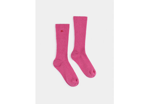 BOBO CHOSES BC Pink Lurex Socks Pink Flambé