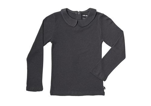 CarlijnQ Basics - longsleeve collar (grey / rib)