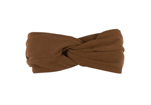 CarlijnQ Basics - twisted headband (brown)