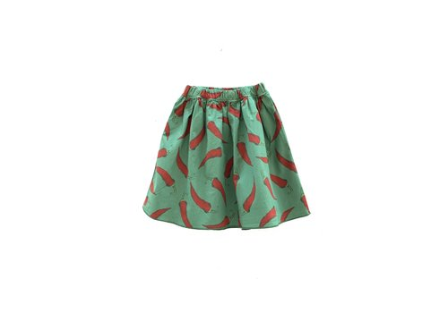 Long Live the Queen longlivetheskirt 303 green upcycled peppers