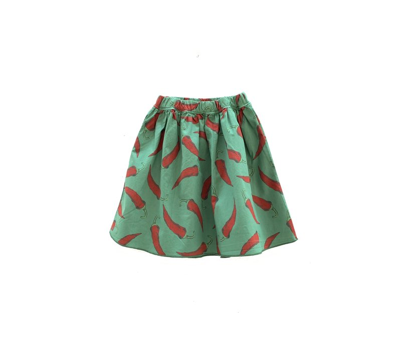 longlivetheskirt 303 green upcycled peppers