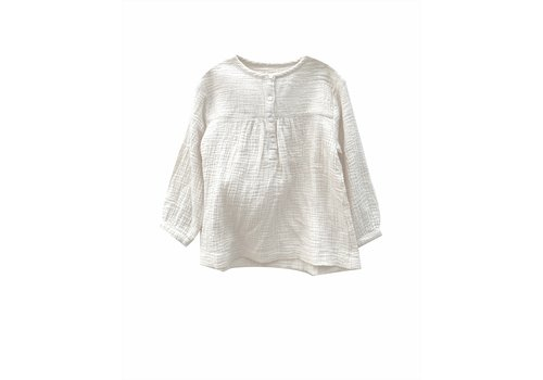 Long Live the Queen crinkle blouse almost white crinkle