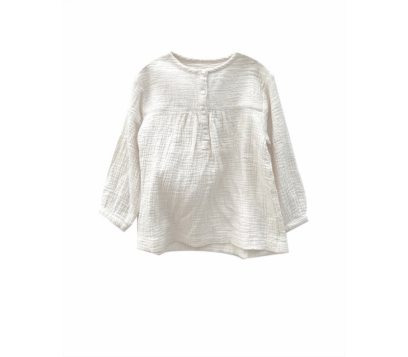 crinkle blouse almost white crinkle